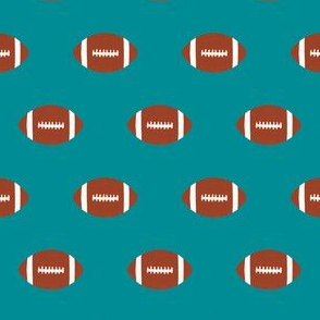 football turquoise fabric football sports boys fabric kids sports