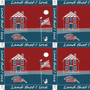 Iand that I love cheater americana quilt