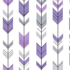 fletching arrows || grey and purple