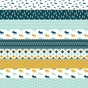 the yellowstone collection || wholecloth quilt top