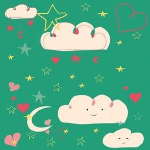 cute happy clouds