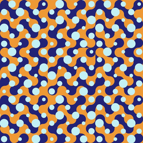 Effervescent Dots - Blue Orange