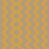 Zig Zag Dots - Yellow