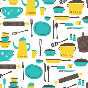 kitchen101 (lemon & aqua)