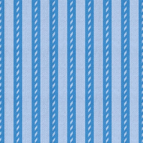 Bicolour Blue Stripes on Herringbone