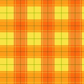Orange Halloween Plaid