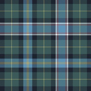 Wisconsin official state tartan, weathered hues