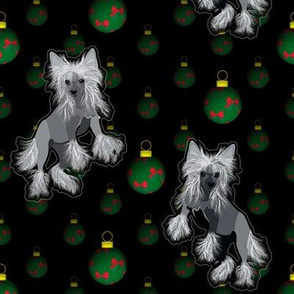 Chinese Crested - Christmas Ornaments