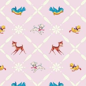 Retro Animals on Pink