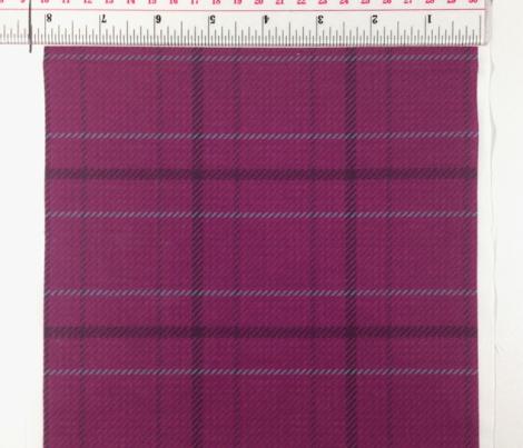 Burgundy Plaid on Fabric Texture