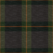 Dark Green Plaid on Fabric Texture