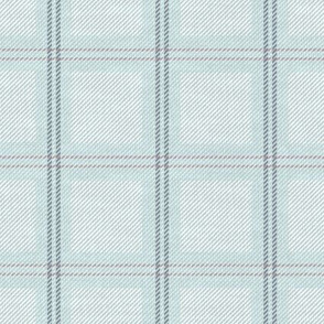 Light Blue Plaid on Fabric Texture