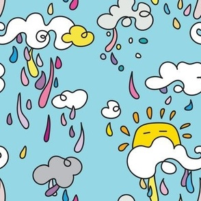Squirmy clouds make rainbow rain