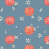 Red Apple & Snowflake print