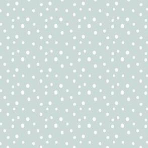 Modern Sky/White Polka Dots