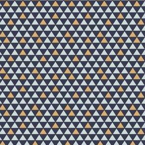 Modern Mini Mustard/Navy Triangles