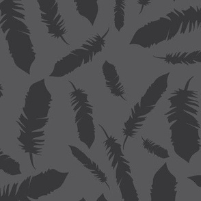 Tribal Charcoal Feathers