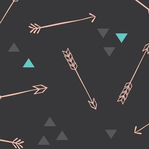 Tribal Pink/Charcoal Arrows