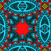 Wycinanka_Paisley_026_red-blue