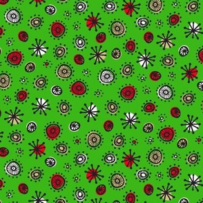 Merry Retro Atoms (Green)