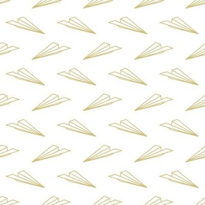 Paper Airplanes (White and Gold)