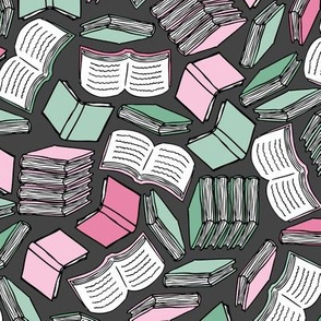 So Many Books... (Pink and Mint)