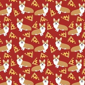 corgi pizza cream cute funny novelty pet corgi fabric corgis design