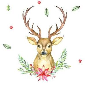 Hello Deer Holiday Print