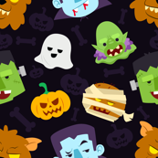 Halloween Monster Zombie Warewolf Pumpkin Ghost