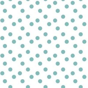 Polka dots in teal