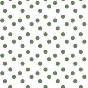 Polka dots in sage green