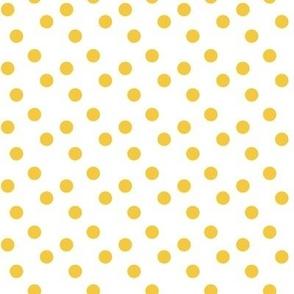 Polka dots in yellow
