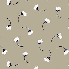 Tumbling flowers - soft grey