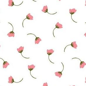 Tumbling flowers in white