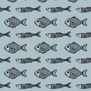 Fish- blue
