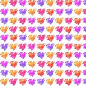 Warm Crayon Hearts