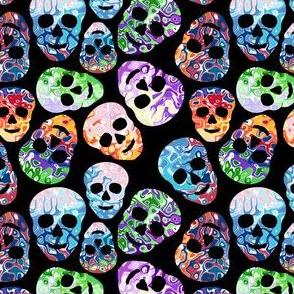 abstract skulls