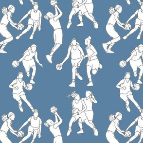 Basketball on Medium Blue