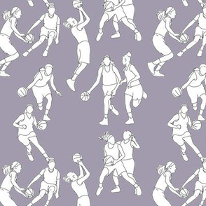 Basketball on Pale Purple