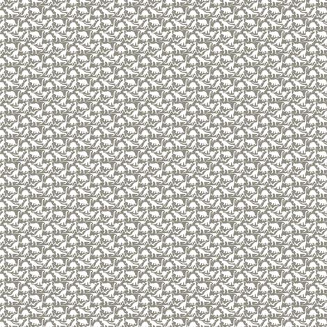 Mini dinosaurs white on dk grey fabric jillbyers for Grey dinosaur fabric