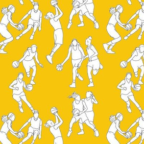 Basketball on Yellow
