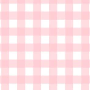 brushed wide gingham rose pink