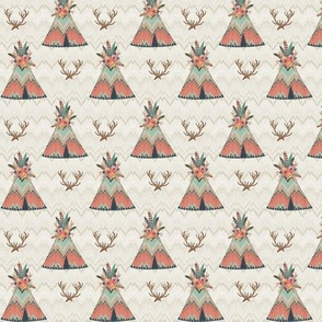 Small Scale Teepees in Ikat Chevron
