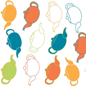 Colourful Teapots