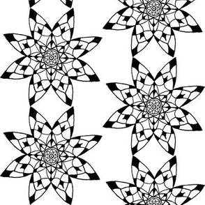 Mandala - 8 point Black & White