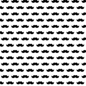 moustaches LG » black + white no.2