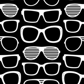 sunglasses LG reversed » black + white no.2