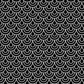 doodle scallops reversed » black + white no.2