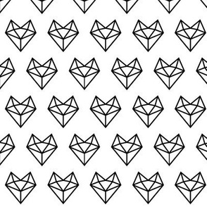 facet fox head » black + white no.3