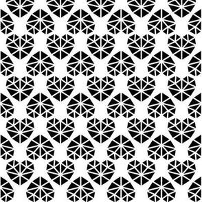 facet hearts » black + white no.3